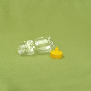 Plasticna teglica za med, oblik mede 180 ml, pet