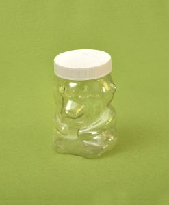 Plasticna tegla za med, oblik mede 720 ml, pet