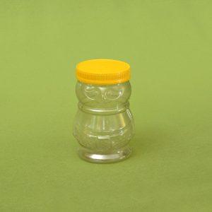 Plasticna tegla za med, oblik pcele 720 ml, pet