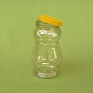 Plasticna tegla za med, oblik pcele 1,44 litar, pet